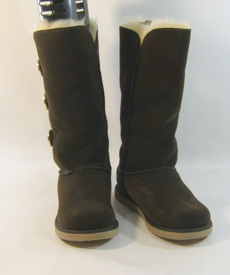 Dark Brown Round Toe Comfortable Winter Sexy Sexy Winter Mid-Calf Boots Size 8 859542