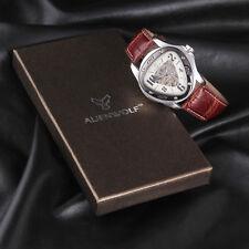 Luxus Herren Braun Leder Mechanische Automatik Armbanduhr Herrenuhr Sport Uhren