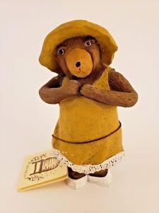 Mama-Bear-Honey-Bears-figurine-American-Folk-Art-North-Carolina-1986-Resin
