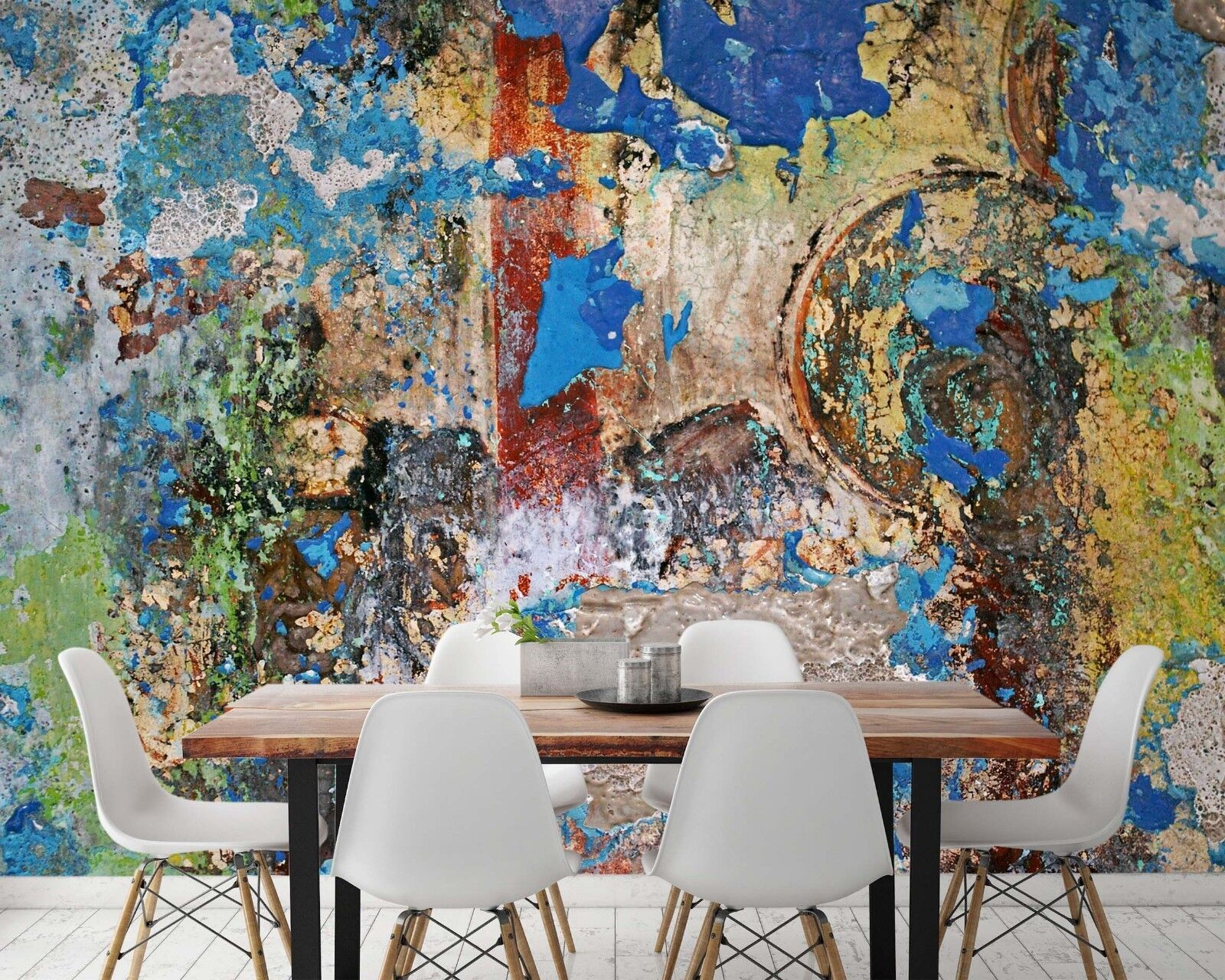 3D Old Wall Blau Paint 45 Wall Paper Wall Print Decal Wall Deco Indoor Murals