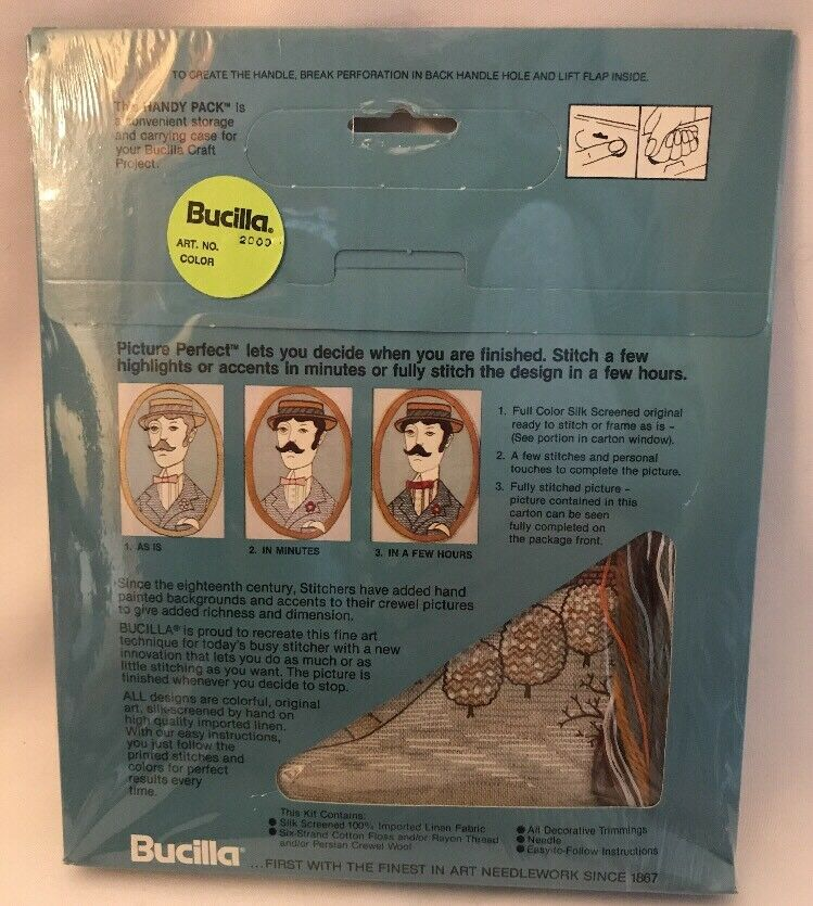 Bucilla Picture Perfect Crewel Art Stitchery Kit Country Winter #2009