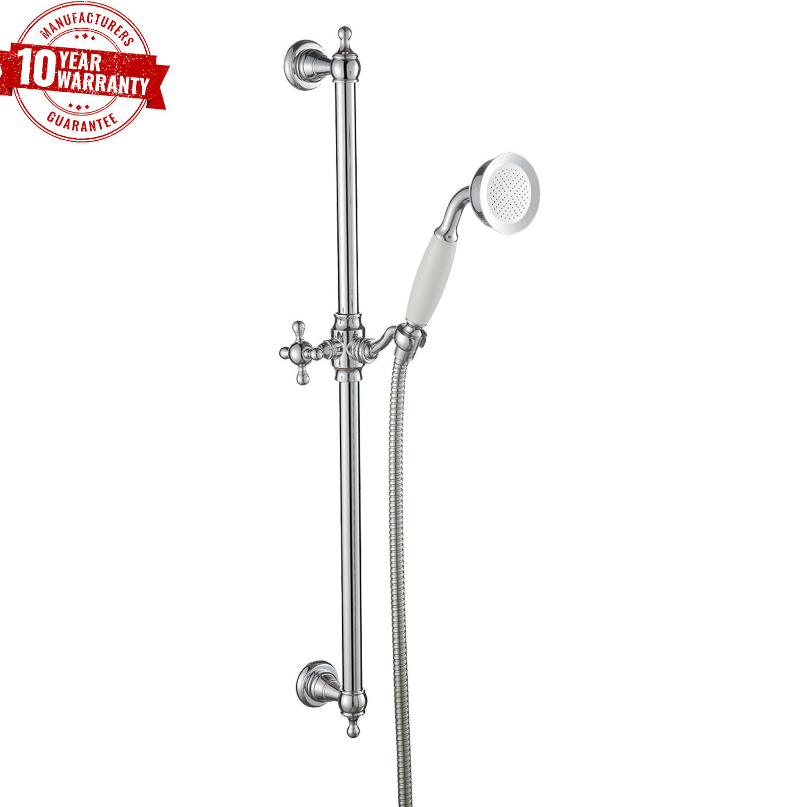 Traditionnel Douche Coulissant Rail Kit Avec réglable laiton combiné Support Chrome