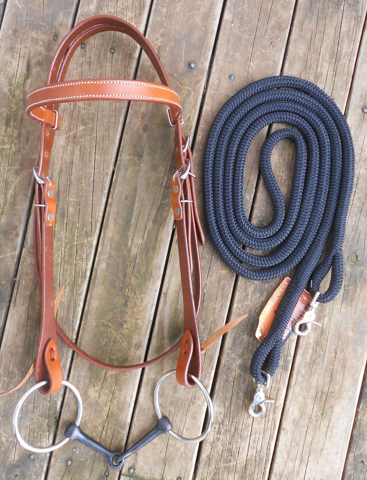 COMPLETE SNAFFLE BRIDLE and REINS  10 COLOURS AVAILABLE  PROFESSIONALLY MADE
