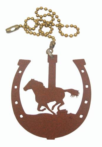 Ornament Horse In Horseshoe Fan Pull