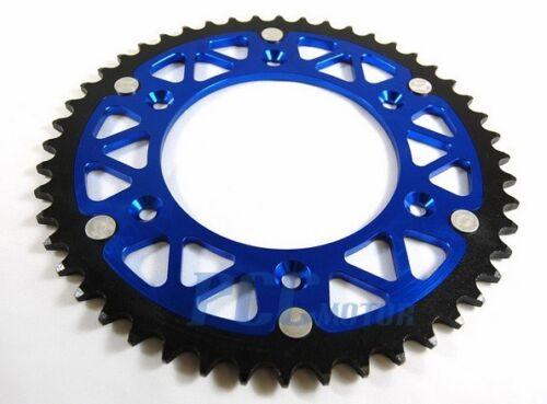 Aluminum Rear Chain Sprocket YAMAHA CNC YZ125 YZ250 YZ250F YZ450 BLUE 49T I RS23