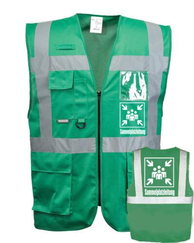 Sammelplatzleiter Weste grün mit vielen Taschen S-3XL