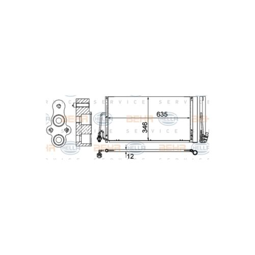 Fits Mini Clubman R55 One Genuine OE Quality Hella A//C Air Con Condenser