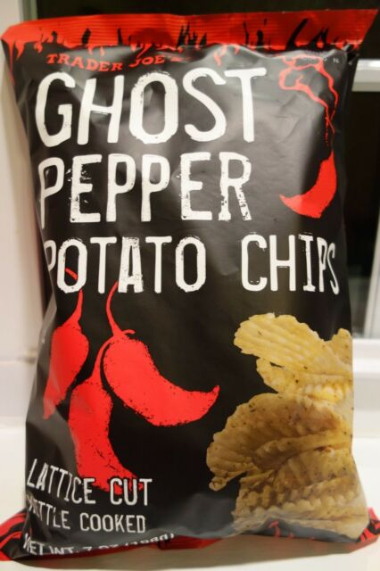 NEW SEALED TRADER JOE'S GHOST PEPPER POTATO CHIPS 7 OZ KETTLE COOKED