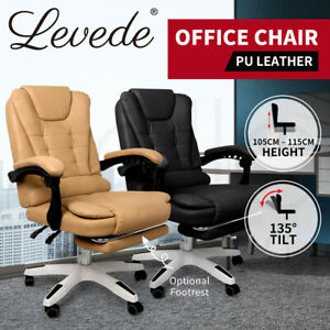 Levede Gaming Chair Office Computer Seat Racing PU Leather Executive Footrest