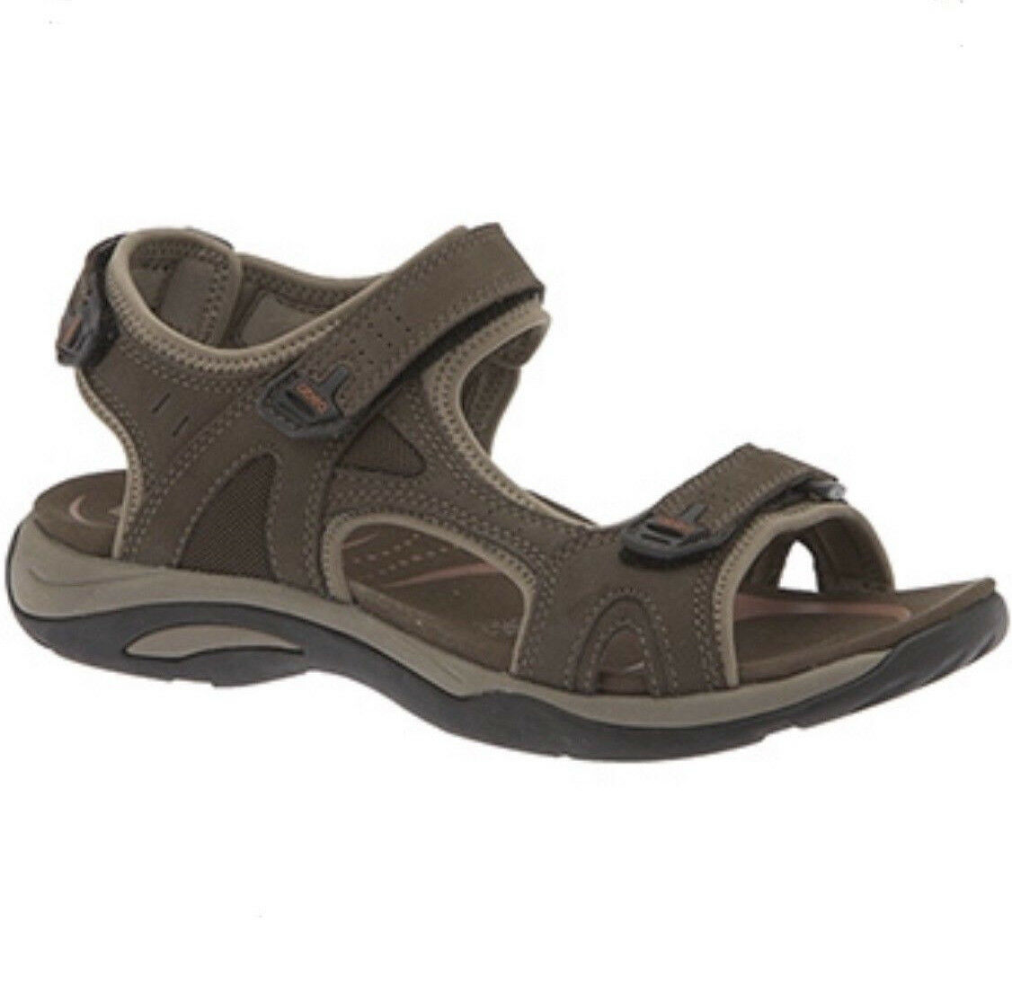 Abeo Womens Sport Sandals Huntington Neutral Strappy Brown Leather shoes Size 9