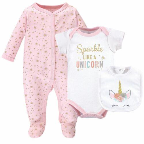 Bodysuit and Bib Unicorn 3-Piece Set Little Treasure Girl Sleep and Play