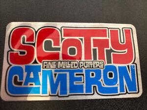 Sticker - Scotty Cameron Fine Milled Putters - Laguna Font - Blue/Red