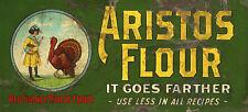 """ARISTOS FLOUR"" ADVERTISING METAL SIGN"