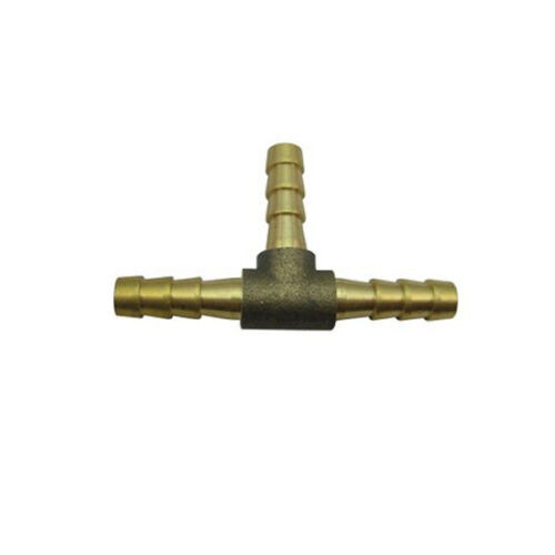 """Barb Tee Hose ID 3//8"""" Brass Oil Fuel Gas Air Water L-7Y"""