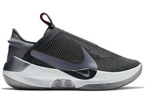 newest 1ed16 ca278 Image is loading Nike-Adapt-BB-Self-Lacing-Dark-Grey-New-