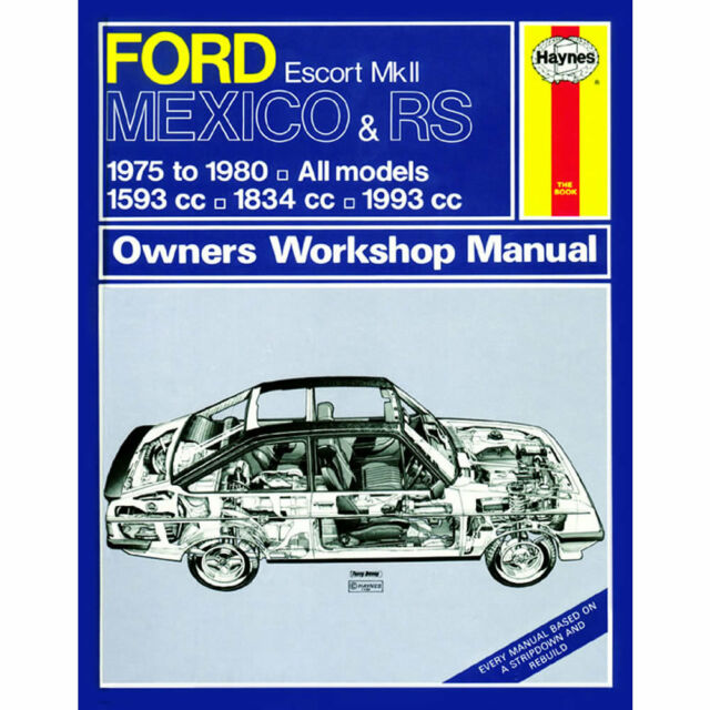 FORD ESCORT MK2 RS2000 /& MEXICO WORKSHOP MANUAL CD