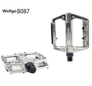 Wellgo-B087-Alloy-Pedals-Silver-MTB-BMX-Mountain-Bike-Pedals-9-16-034-Cycle-Durable