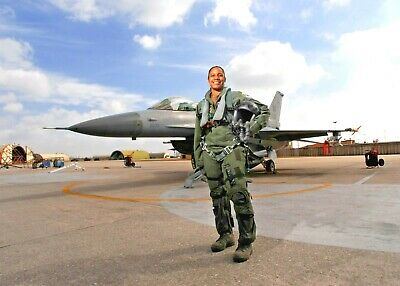 Maj Shawna R Kimbrell 555th Fighter-First African American Female fighter Pilot