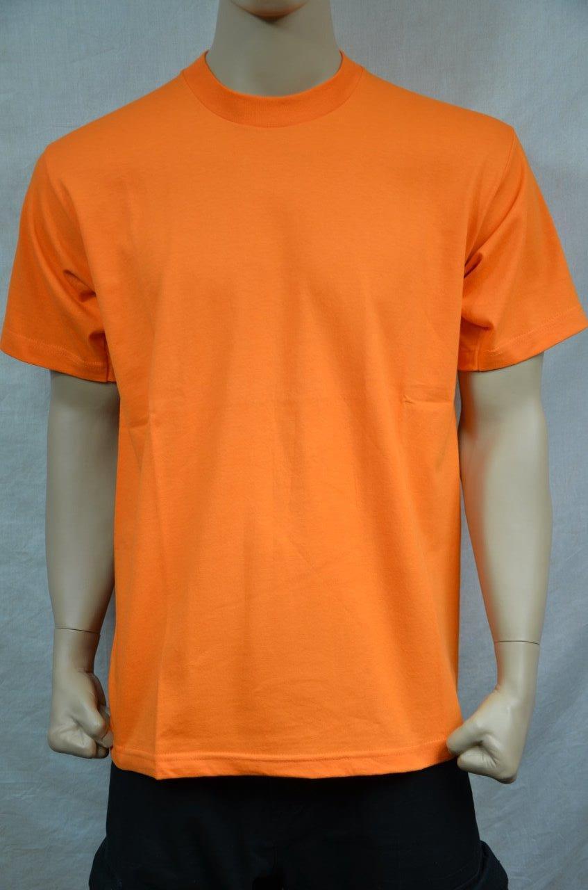6 NEW PRO5 SUPER HEAVY WEIGHT T-SHIRT orange TEE PLAIN BLANK COTTON S-7XL