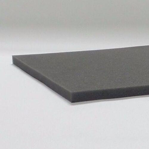 "1/"" x 18/"" x 18/"" inch hard density foam for cushion black gray set of 3 pcs"