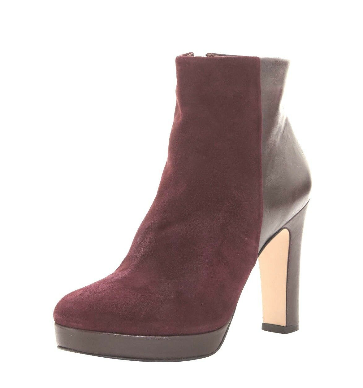 DUNE SIZE 6 7 8 OLYMPE PLUM MAUVE BURGUNDY LEATHER REAL LEATHER BURGUNDY ANKLE Stiefel NEW 6b97bc