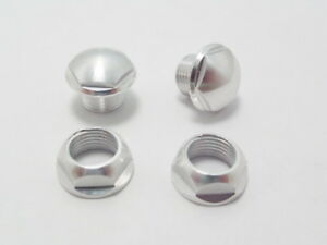 2 Pcs Silver Metal Canopy Grommet Ring Nuts For T-Rex 550 600 700 Helicopter