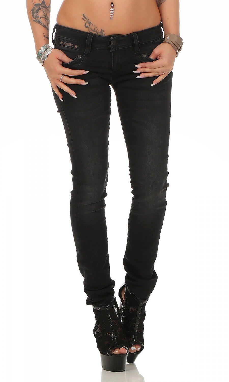 HERRLICHER - PIPER Slim schwarz - - - DB840 671 - Röhre Schwarz   Damen Jeans Hose 02fe8d
