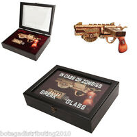 Zombie Survival Steampunk Case W/ Cartridge In Wooden Gun Case
