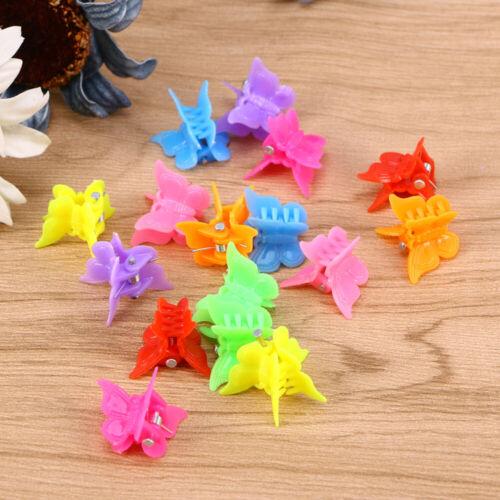 100pcs Mini Butterfly Hair Clips Kids Gilrs Hair Jaw Clip Hairpin Hair Barrettes