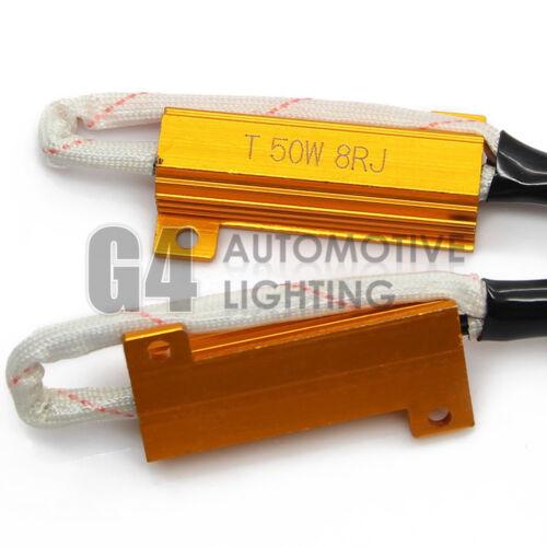 NEW H4 9003 HID LED Resistor Kit Relay Harness Anti Flicker Error Free Decoder