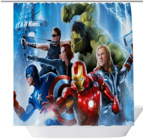 Avengers:Endgame Printed Fabric Waterproof Bathroom Shower Curtain Accessory Set