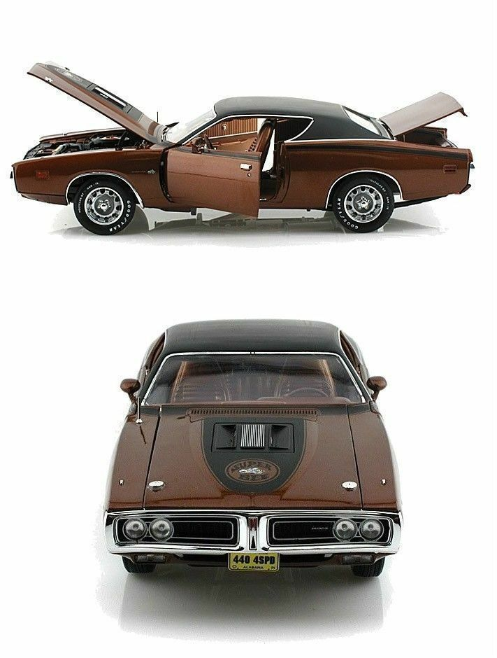 18 autoworld   ertl nach 1971 dodge charger super bee bronze