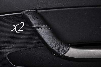 GREY STITCHING FITS PEUGEOT 308 2007-2012  2X DOOR HANDLE LEATHER COVERS ONLY