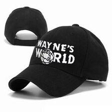 Wayne's World Adult Adjustable Black Baseball Hat Cap - Movie Costume Accessory