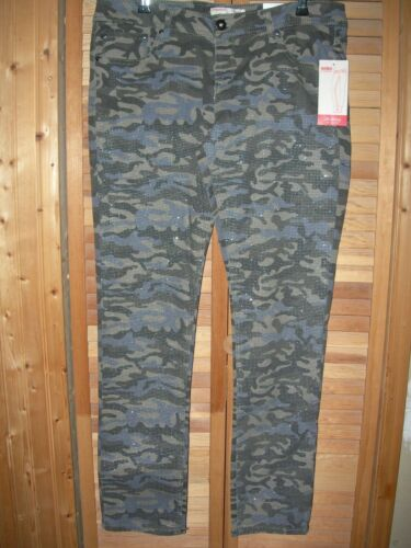 NOBO Green SPARKLE Camouflage CAMO STRETCH SKINNY Jean Pant 1 LAST ONE!!!