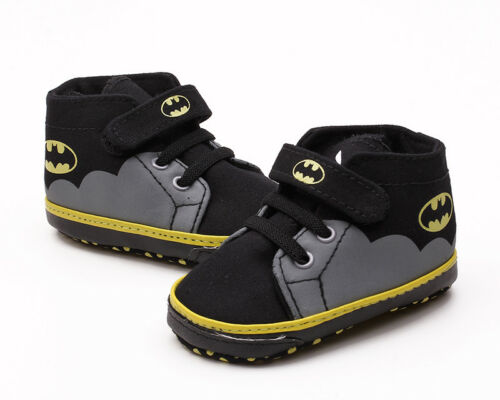 Soft Sole Baby Boy Pram Shoes Infant First Shoes Batman Trainers Newborn to 18 M