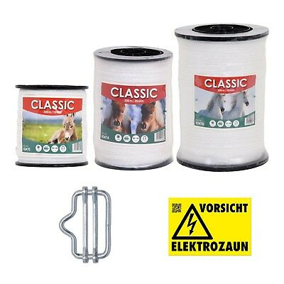 200-2000m 40mm Weidezaunband Elektro Weidezaun Band Weideband Elektrozaun