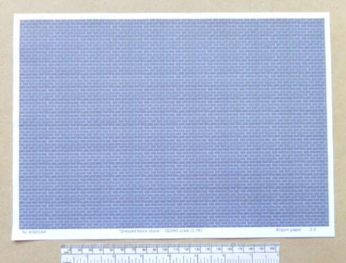 "OO//HO gauge 1:76 scale /""Dressed block stone/""  paper A4 sheet"