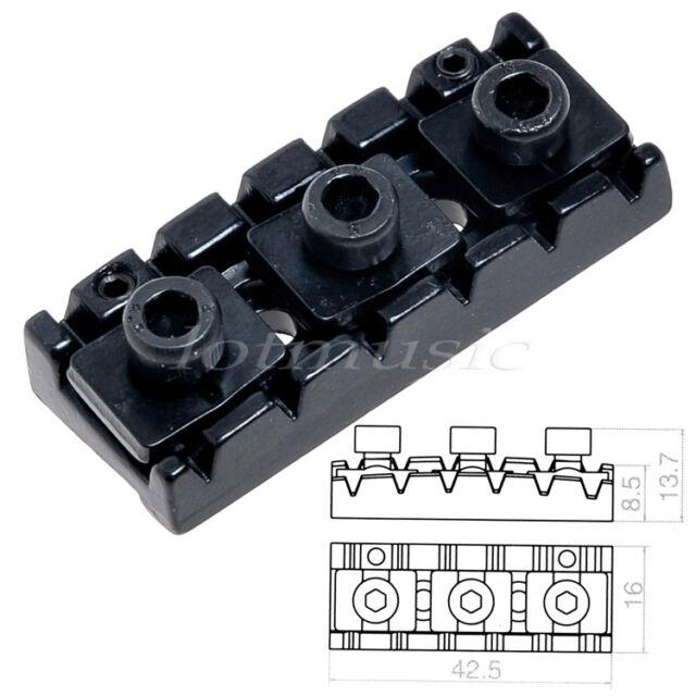 black 2 pcs electric guitar locking nut string lock shim adjustable for sale online ebay. Black Bedroom Furniture Sets. Home Design Ideas