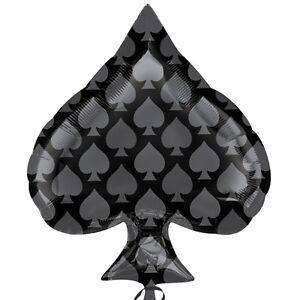 CASINO-BALLOON-22-034-GAMBLING-PARTY-SPADE-SHAPED-PLAYING-CARD-BLACK-BALLOON