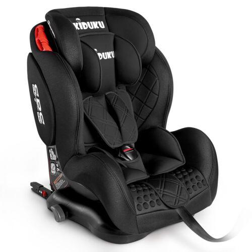 Autokindersitz Autositz Kinderautositz mit ISOFIX 9-36kg Gruppe 1+2+3 Schwarz
