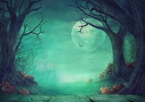 A1-Spooky-Halloween-Forest-Poster-Art-Print-60-x-90cm-180gsm-Wall-Decor-14268