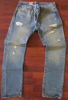 Levi's 501 Straight Leg Jeans Men Size 34 X 36 Vintage Distressed Wash -