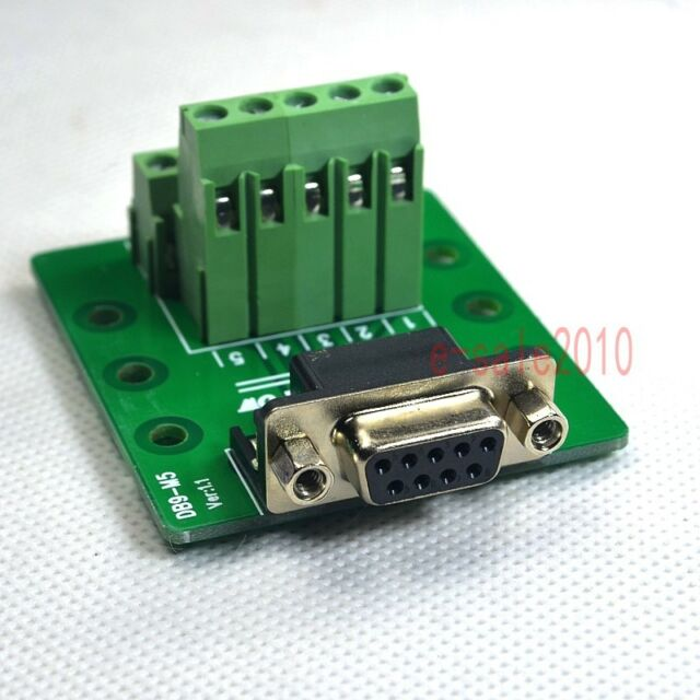 D Sub 9 Db9 Female Header Breakout Board Terminal Block Connector Right Angle F For Sale Online