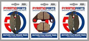 Front & Rear Brake Pads for Kawasaki ZXR250 (ZX250) 91-95 GPZ500 S (EX500) 94-04