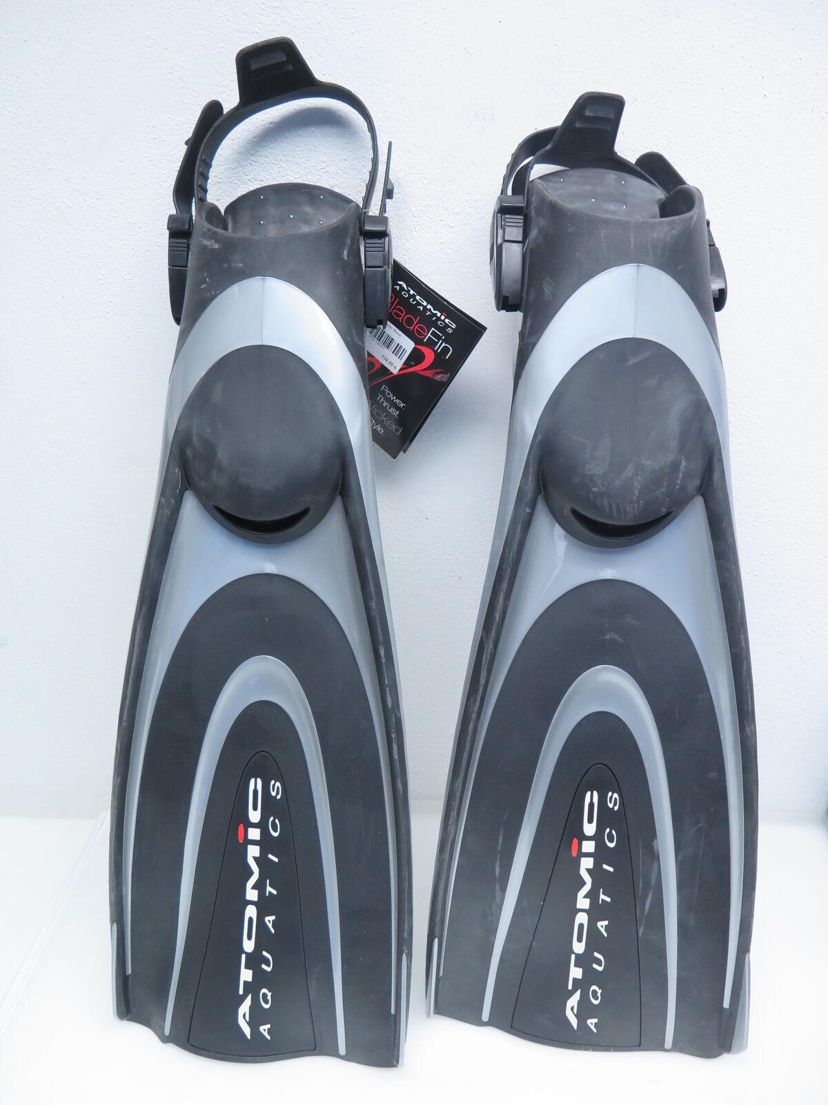 Atomic X1 Open Heel BladeFin Freiwasserflossen Offen Offen Offen Flossen Tauchen Gr L silber 906285