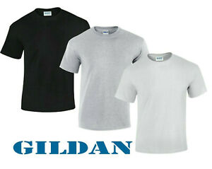 Homme-Multi-Pack-Plain-Blank-base-Gildan-100-Coton-T-Shirt-Homme-Decontracte-a-T-Lot