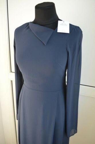 jurk NwtOverige Casual Xs 8 nek 4 blauwe marine Lichte verhalen Asymmetrische 34 wPnkX80O