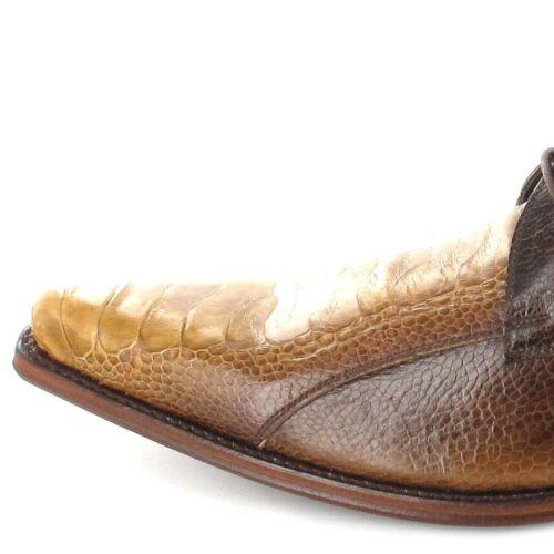 7965a Boots di Sendra Pelle struzzo beige beige esotica marrone p1OO5w