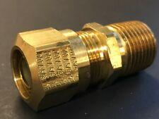 Union 5//8 Compression Tube x 5//8 Compression Tube Legines DOT Brass Nylon Air Brake Tubing Fitting 2 pcs